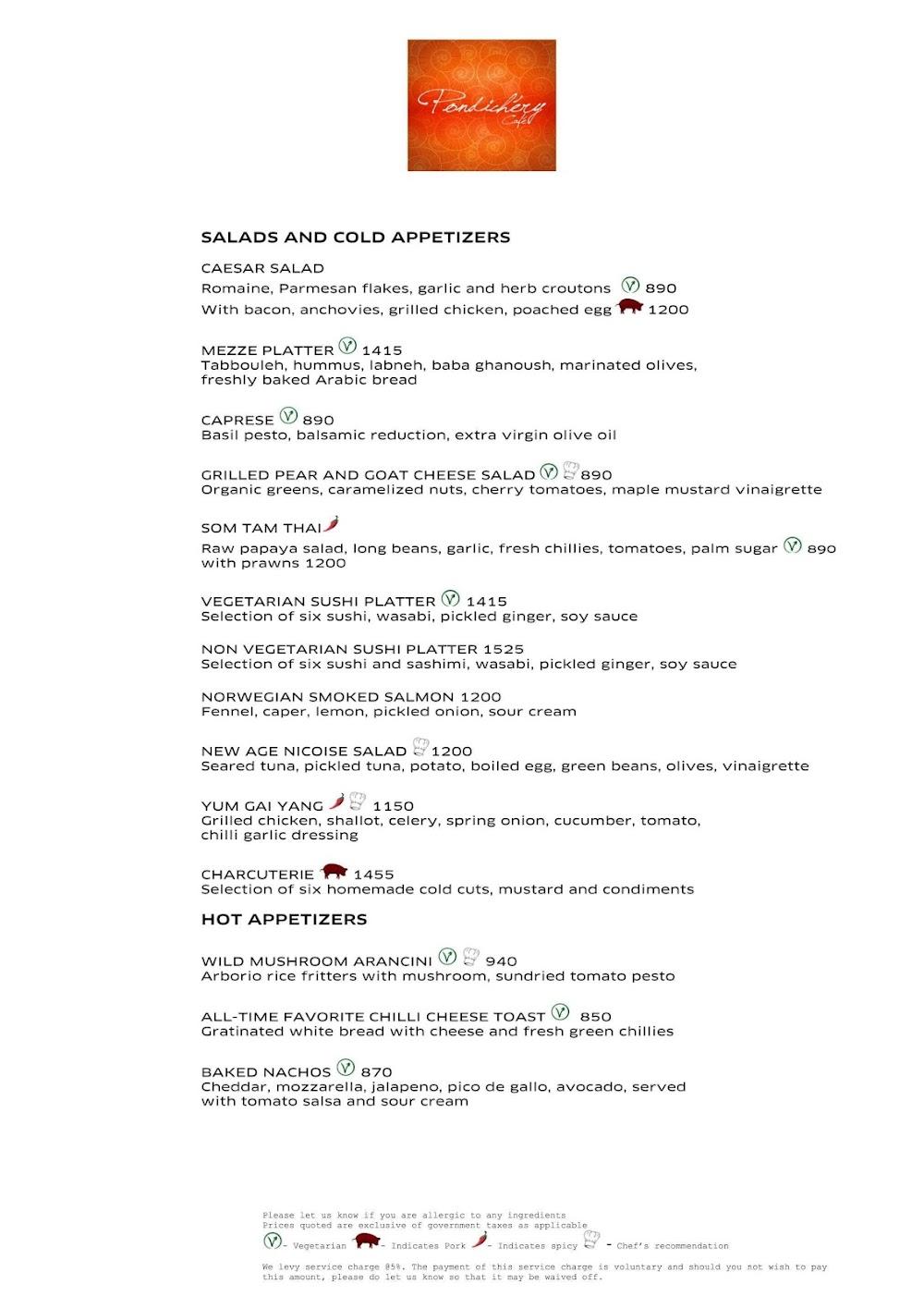 Pondichery Cafe - Sofitel menu 8