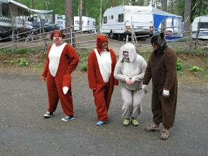 Photo: Eläimet lähdössä metsäretkelle.
