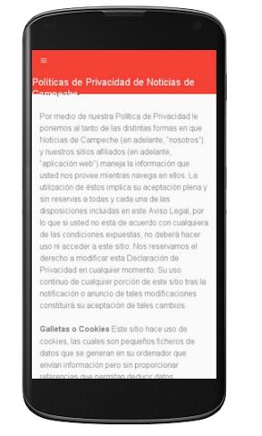 android Noticias de Campeche Screenshot 1