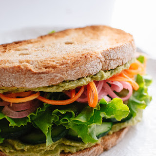 Green Goddess Hummus Sandwich