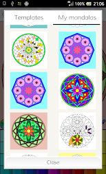 Mandalas coloring pages (+200 free templates) APK screenshot thumbnail 21