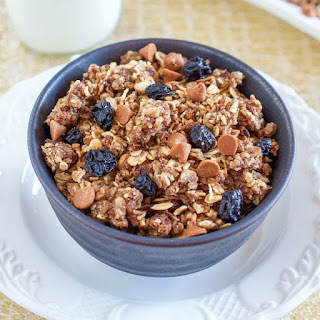 Oatmeal Raisin Cookie Granola Made in the Crock Pot.