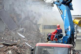 Photo: Walls come tumbling down