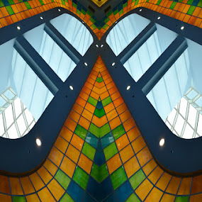 The eyes by Natalie Ax - Abstract Patterns ( orange, glass, green, blue, background, pattern, mosaic, abstract, windows, colorful )