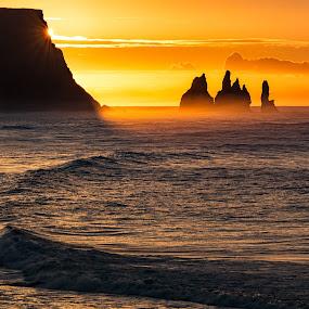 Orange Sky by Jon-Eirik Boholm - Landscapes Sunsets & Sunrises ( iceland,  )