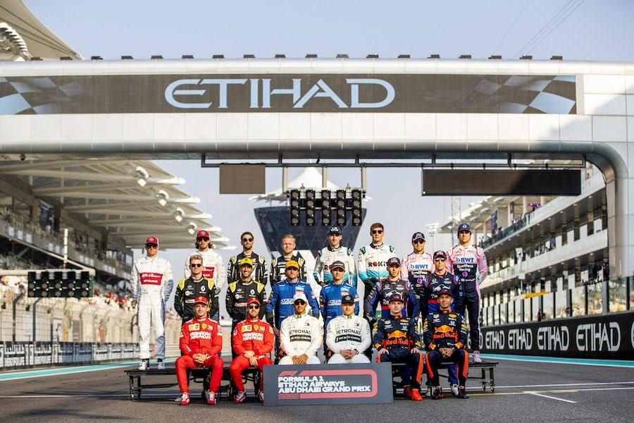 2019年F1アブダビGPドライバー記念写真