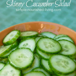 Weight Watchers Cucumber Salad.