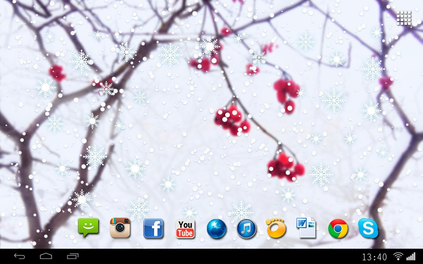 Winter Berry Live Wallpaper Apl Android Di Google Play