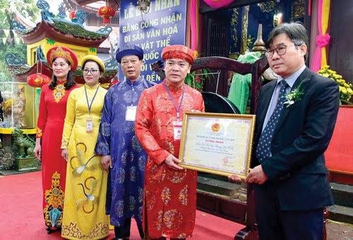 Đền Hạ Tuyên Quang đón bằng di sản quốc gia
