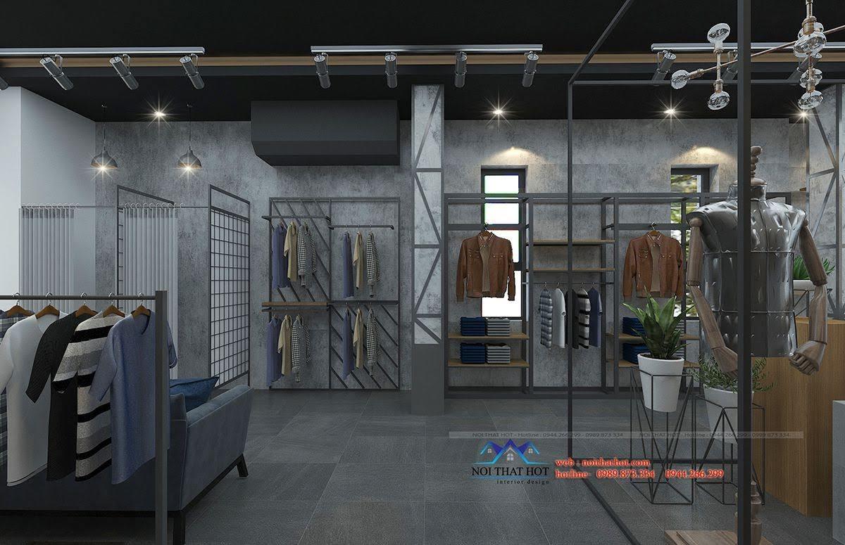 thiết kế shop thời trang nam polido 4
