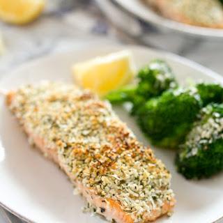 Hemp and Pecorino Crusted Salmon