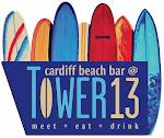 Logo for Cardiff Beach Bar at Tower 13