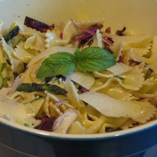 Grilled Asparagus and Radicchio Pasta Salad