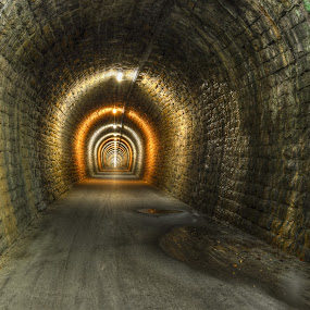 The tunnel of friendship by Mara R. Sirako - Buildings & Architecture Bridges & Suspended Structures ( portorose, parezana, walking, railway, railway tunnel, path, friendship, portoroz, walk, tunnel )