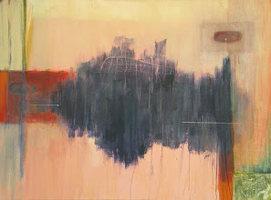 Photo: SOUNDS OF A BLUE POOL 30X40 mixed media