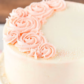 Rose Water Vanilla Layer Cake.