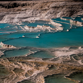 Pamukkale by Ahmet AYDIN - Landscapes Waterscapes ( water, pamukkale, blue, turkey )