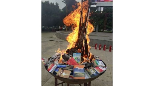 Religious Books Publicly Burned, DVDs Bulldozed in Yunnan