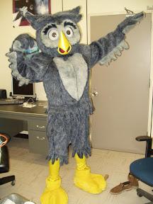 Man in owl costume img