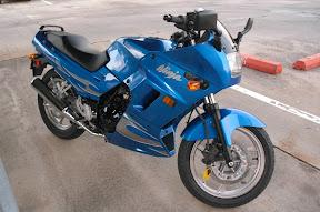 Blue Kawasaki Ninja