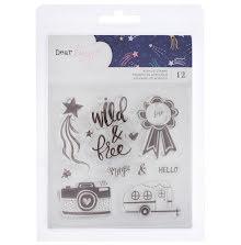 Dear Lizzy Clear Acrylic Stamps - Star Gazer Phrases & Icons