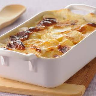 Creamy Scalloped Potatoes With Ham.
