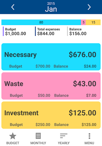 3Categories Expense Tracker