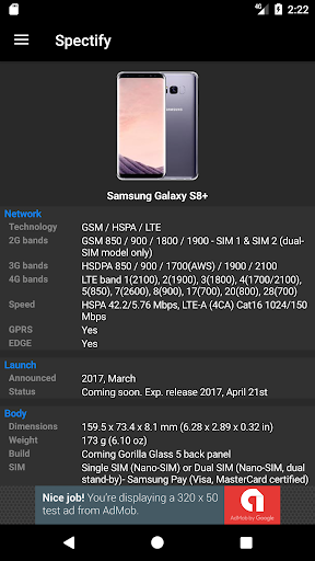 Spectify - Smartphone Specifications Finder ss2