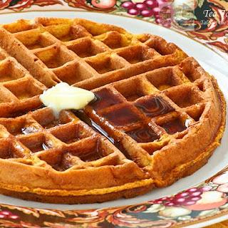 Chai Gingerbread Pumpkin Waffles.