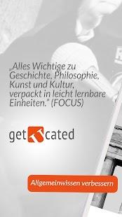 getucated - Allgemeinwissen verbessern &  Quiz Screenshot