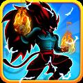 Shadow Goku Saiyan Fighting