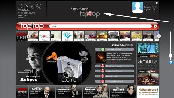 Портал Top4Top - интерактивная система помощи