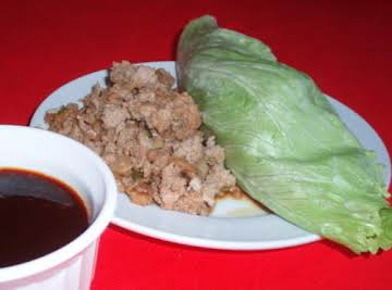Low Carb Low Fat Asian Lettuce Wraps with Dipping Sauce