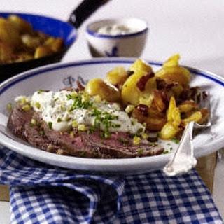 Roastbeef mit Bratkartoffel und Remoulade