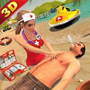 Maître nageur plage sauvetage hôpital d'urgence