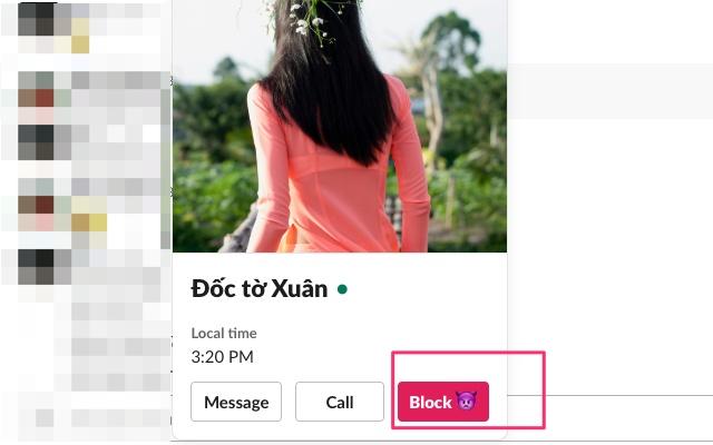 Slack Block User