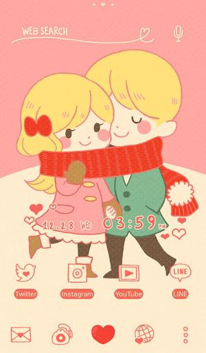 Cute Theme Winter Couple 1.0.0 Windows u7528 1