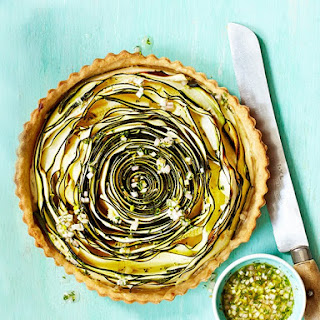 Spiral Courgette Tart with Dill Dressing Recipe