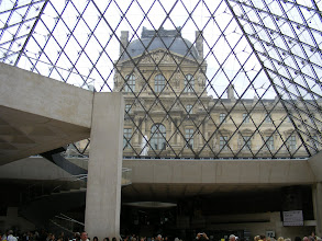 Photo: A final look up at the Louvre, from inside the 1988 I. M. Pei pyramid. It is today difficult to understand the controversy this structure originally created, especially since the area was previously used as a parking lot!