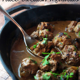 Paleo Swedish Meatballs in Mushroom Gravy.