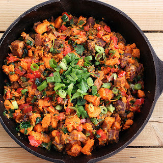 Sweet Potato and Poblano Hash – Gluten-free + Dairy-free, Vegan Option