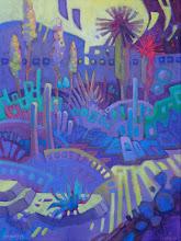"Photo: ""Solstice"", acrylic on canvas 16"" x 12"", © Nancy Roberts"