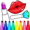 Beauty Makeup: Glitter Coloring Game for Girls icon