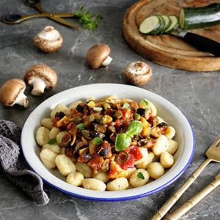 Simple Vegan Gnocchi Puttanesca.