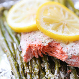 Parmesan Salmon and Asparagus in Foil.