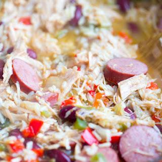 Cajun Turkey and Rice Soup.