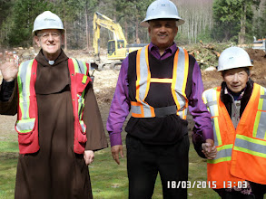 Photo: BRO. JOSEF, FR. RUDY AND HELEN.