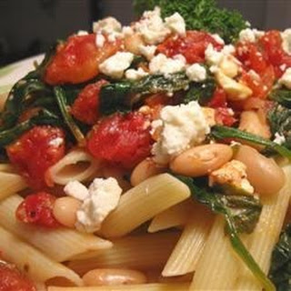 Greek Pasta With Tomatoes And White Beans Recipes