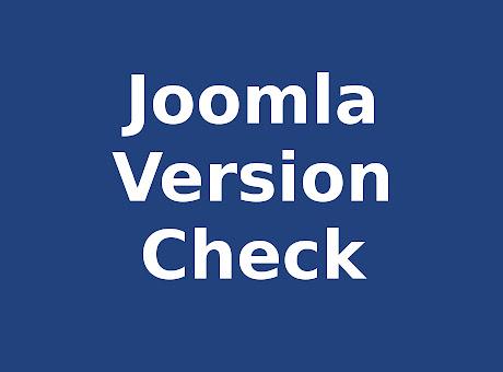 Version Check for Joomla