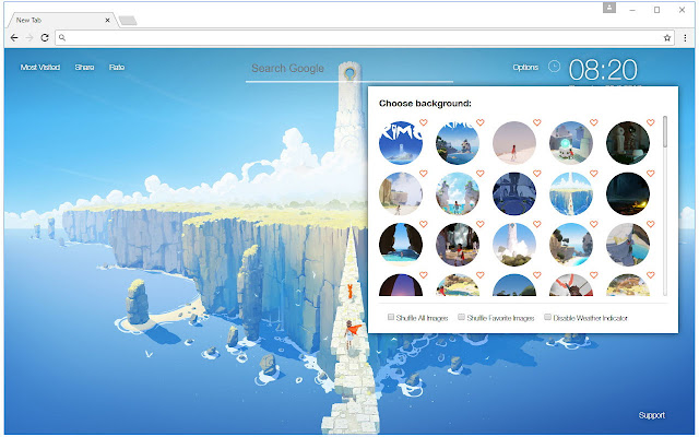 Rime Wallpapers HD New Tab by freeaddon.com